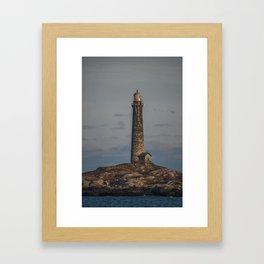 Thatchers north lighthouse tower Framed Art Print