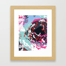 Kimball - Modern abstract painting for home decor in bold and bright colors Framed Art Print