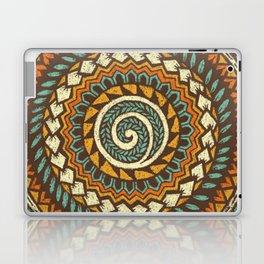 Retro Abstract 60s 70s Polynesian Tattoo Design - Vintage Blue Laptop & iPad Skin