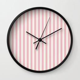 LADY PINK STRIPES Wall Clock