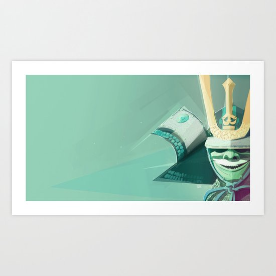 Kabuto - Green Art Print