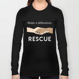 Animal Rescue - Paw Art (Light Edition) Long Sleeve T-shirt