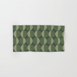 Abstract Circles pattern green  Hand & Bath Towel