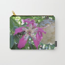 Silk Floss Tree Blossom & Fluff Carry-All Pouch