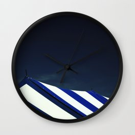 Circus Tent in Dark Cobalt Blue Wall Clock