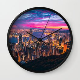 Sunset City (Color) Wall Clock