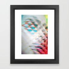 Electric Vision Blue Eyes Framed Art Print