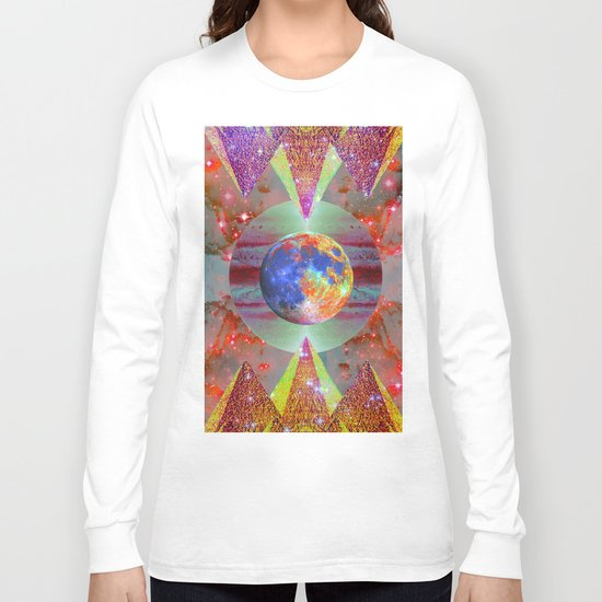 ☪elestial Pyramids Long Sleeve T-shirt