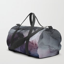 Moody Dark Chaos Inks Abstract Duffle Bag