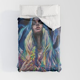 The Rustle of Narwhal's Wings Duvet Cover