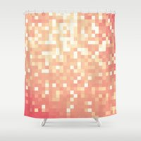 peach Shower Curtains featuring Peach by Whimsy Romance & Fun