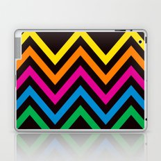 Chevron Sherbet black Laptop & iPad Skin