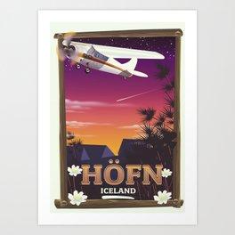 Höfn Iceland travel poster Art Print
