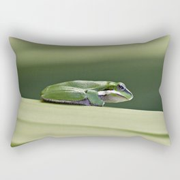 Dwarf Green Tree Frog Rectangular Pillow