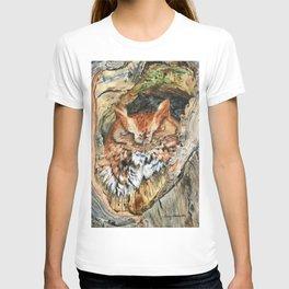 Woodland Screech by Teresa Thompson T-shirt