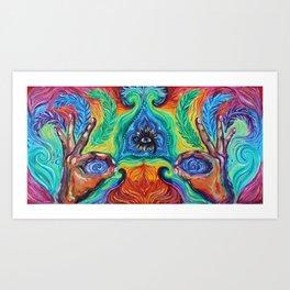 Elemental Feather Art Print