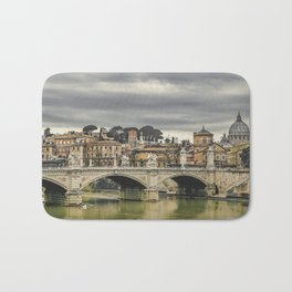 Tiber River Rome Cityscape Photo Bath Mat