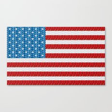 Pixel American Flag Canvas Print