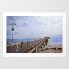 Jetty Jumping Art Print