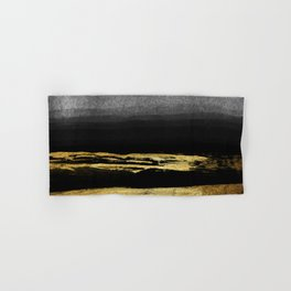 Black & Gold Stripes on White - Mix & Match with Simplicty of life Hand & Bath Towel