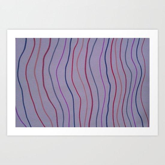 Multi Colour Stripes Art Print