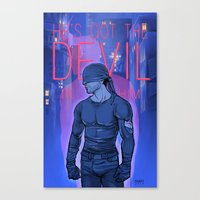 daunt Canvas Prints featuring Got the Devil in Him by Daunt