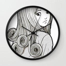 Kirie Goshima Spiral Hair - Uzumaki  (Junji Ito) Wall Clock