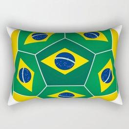 Football ball with Brazilian flag Rectangular Pillow