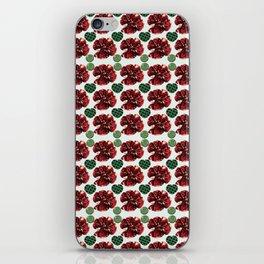 Garnets and fractal hearts iPhone Skin