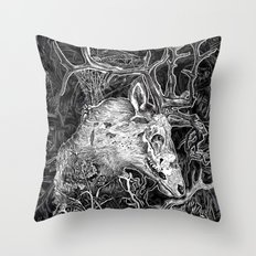 Elk Decay Throw Pillow