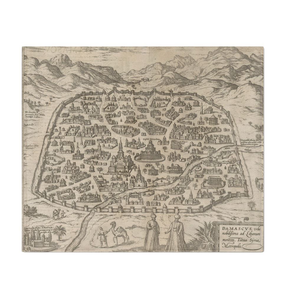 Historical_Map_of_Damascus_Syria_1575_Throw_Blanket_by_bravuramedia