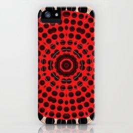 Bronze Red Black Mandala Circle iPhone Case