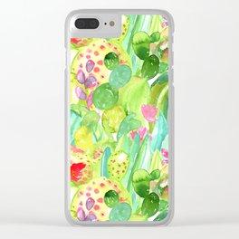 Lush Cacti Jungle Clear iPhone Case