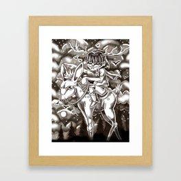 we rode on through the night Framed Art Print