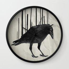 Raven Rising Wall Clock