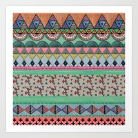ethnic Art Prints featuring  Ethnic  by moniquilla