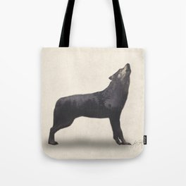 Howling Wolf (Double Exposure Animal Portraits) Tote Bag