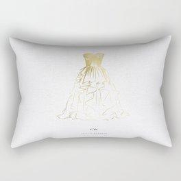 Little Gold Ball Gown Dress Rectangular Pillow
