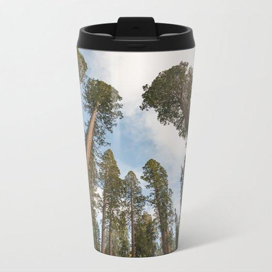 Redwood Sky - Giant Sequoia Trees Metal Travel Mug