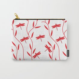 Drawing Vector Nature Red Dragonfly Carry-All Pouch