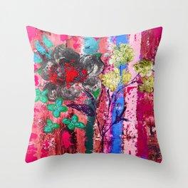 Pink Bird nest Throw Pillow