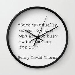 Henry David Thoreau quote Wall Clock