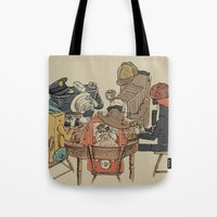 poker Tote Bags featuring Polaroid Poker by Romayne Robinson