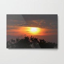 Bali Sunset Metal Print