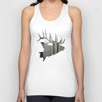 elk Tank Tops featuring Elk by Jeffrey Derrick