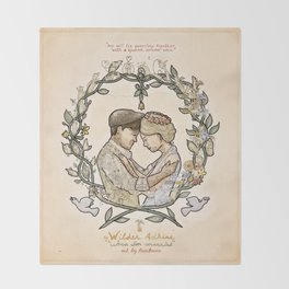 """Illustration from the video of the song by Wilder Adkins, """"When I'm Married"""" Throw Blanket"""