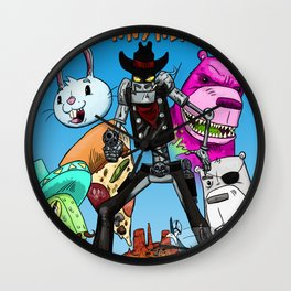 Floating BunnyHead #1 Cover Wall Clock