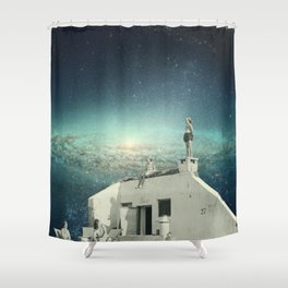 We Don't Belong Here Shower Curtain