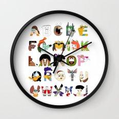 Child of the 70s Alphabet Wall Clock
