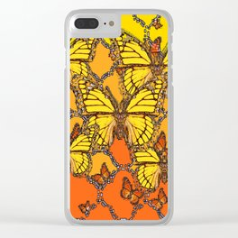 YELLOW & ORANGE MONARCH BUTTERFLIES ART Clear iPhone Case
